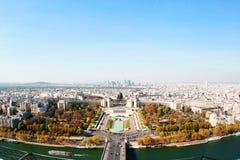 Vue aérienne de Paris Image libre de droits