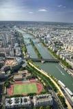 Vue aérienne de Paris de Tour Eiffel photographie stock libre de droits