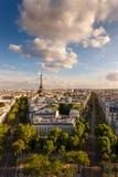 Vue aérienne de Paris et de Tour Eiffel images stock