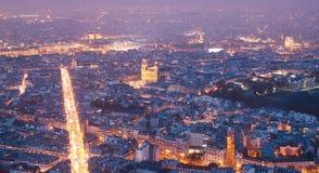 Vue aérienne de Paris (Frances) Images libres de droits
