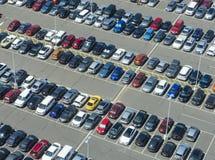 Vue aérienne de parking photo libre de droits
