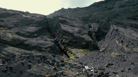 Vue aérienne de paysage islandais banque de vidéos