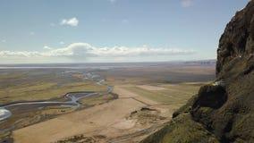 Vue aérienne de paysage de l'Islande banque de vidéos