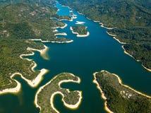 Vue aérienne de paysage de réservoir Photo libre de droits