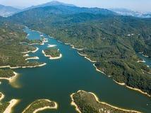 Vue aérienne de paysage de réservoir Photos libres de droits