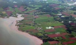 Vue aérienne de PEI Images libres de droits