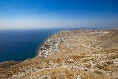 Vue aérienne de Perissa Photo stock