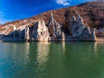 Vue aérienne de phénomène de roche les roches merveilleuses en Bulgarie image libre de droits