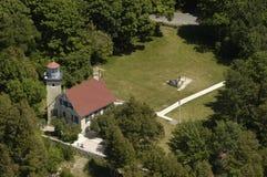 Vue aérienne de phare image libre de droits