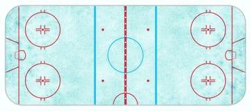 Vue aérienne de piste de hockey sur glace texturisée image libre de droits