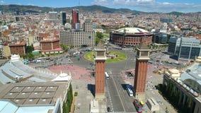 Vue aérienne de place Barcelone Espagne d'Espanya clips vidéos