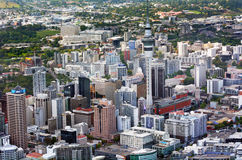 Vue aérienne de place financière Nouvelle-Zélande d'Auckland Images stock