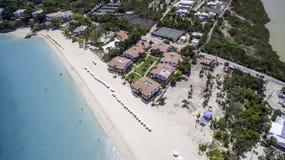 Vue aérienne de plage d'Anguilla Image libre de droits