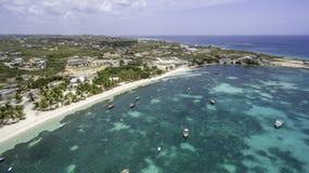 Vue aérienne de plage d'Anguilla Images stock