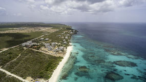 Vue aérienne de plage d'Anguilla Images libres de droits
