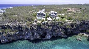 Vue aérienne de plage d'Anguilla Photographie stock