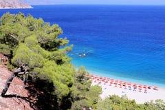 Vue aérienne de plage d'Apella de paradis images libres de droits