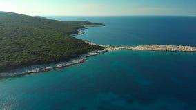 Vue aérienne de plage d'Emplisi banque de vidéos