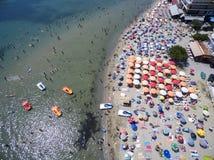 Vue aérienne de plage dans Katerini, Grèce Image stock