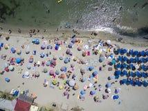 Vue aérienne de plage dans Katerini, Grèce Photographie stock