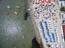 Vue aérienne de plage dans Katerini, Grèce Photo libre de droits