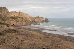 Vue aérienne de plage de Bethells Images libres de droits
