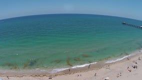 Vue aérienne de plage de Sandy Florida clips vidéos