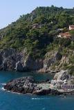 Vue aérienne de plage en Toscane Photographie stock