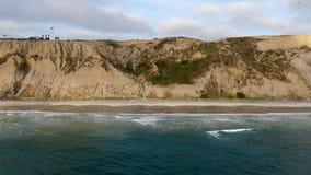 Vue aérienne de plage noire, Torrey Pines california LES Etats-Unis clips vidéos