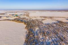 Vue aérienne de plate-forme de forage photographie stock