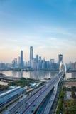 Vue aérienne de pont de liede de Canton Photos libres de droits