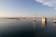Vue aérienne de pont en autoroute Photographie stock
