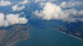 Vue aérienne de pont en porte d'or Image stock