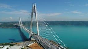 Vue aérienne de pont Yavuz Sultan Selim d'Istanbul Bosphorus clips vidéos