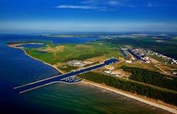 vue aérienne de port de Lubmin Image libre de droits