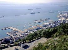 Vue aérienne de port du Gibraltar photographie stock
