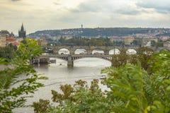 Vue aérienne de Prague Images libres de droits