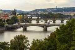 Vue aérienne de Prague Images stock