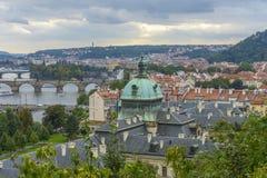 Vue aérienne de Prague Photo libre de droits