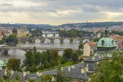 Vue aérienne de Prague Image libre de droits