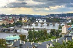 Vue aérienne de Prague Photographie stock