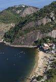 Vue aérienne de Praia Vermelha, Rio de Janeiro photos libres de droits