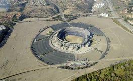 Vue aérienne de Qualcomm Stadium, San Diego Images libres de droits