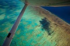 Vue aérienne de récif Australie d'Arlington image libre de droits