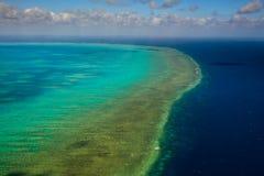 Vue aérienne de récif d'Arlington en Australie Photographie stock