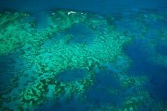 Vue aérienne de récif de barrière grand de récif d'Arlington photos libres de droits