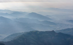 Vue aérienne de région de Pokhara Images libres de droits