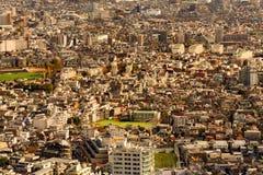 Vue aérienne de résidence de Tokyo, paysage urbain serré images libres de droits
