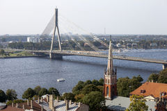 Vue aérienne de Riga latvia Photo stock