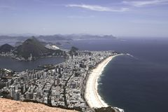 Vue aérienne de Rio de Janeiro, Brésil photographie stock